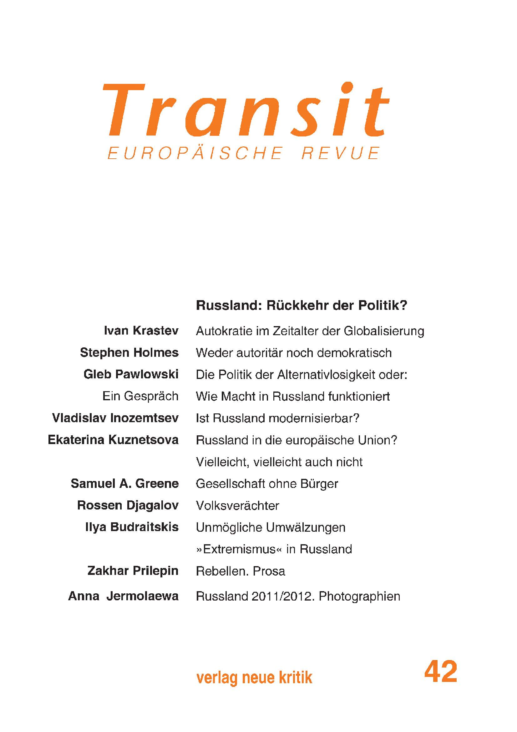 Cover Transit 42