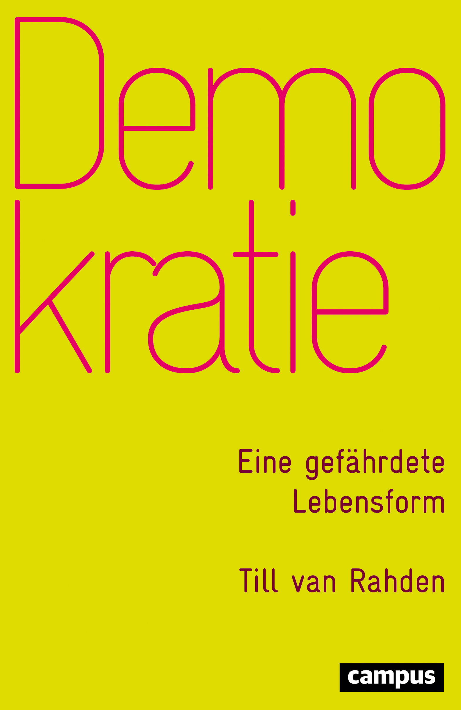 Demokratie Til can Raheden book cover - yellow