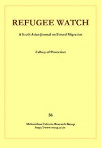 Yellow Cover of publication refugee watch edition 56